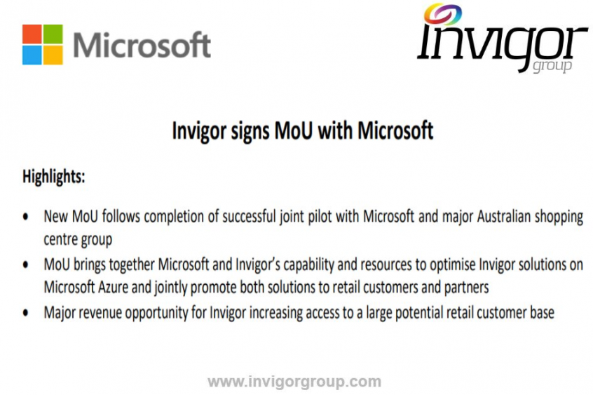 Microsoft Invigor Group MOU